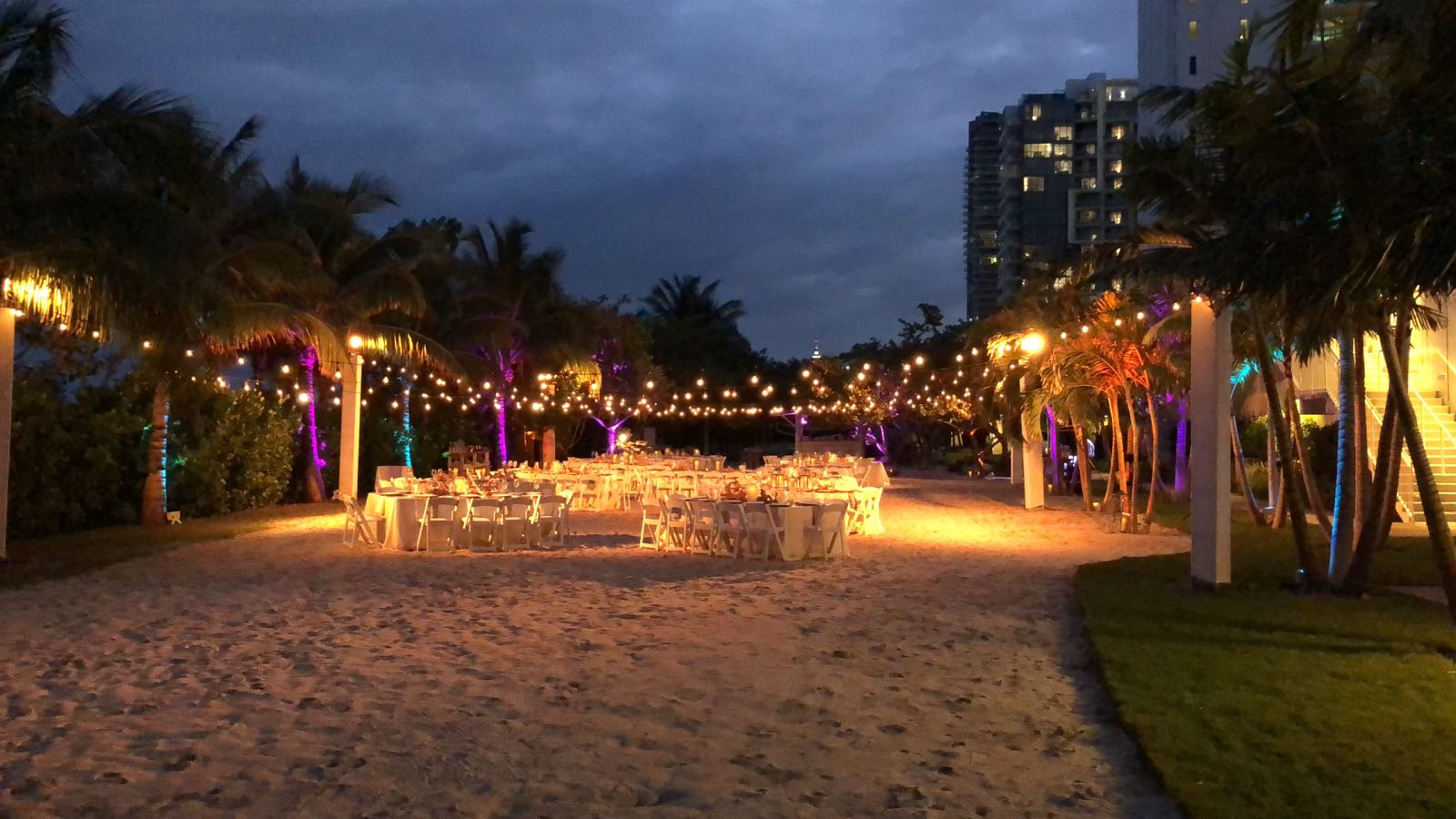 1 hotel bistro lighting miami events evoga productions